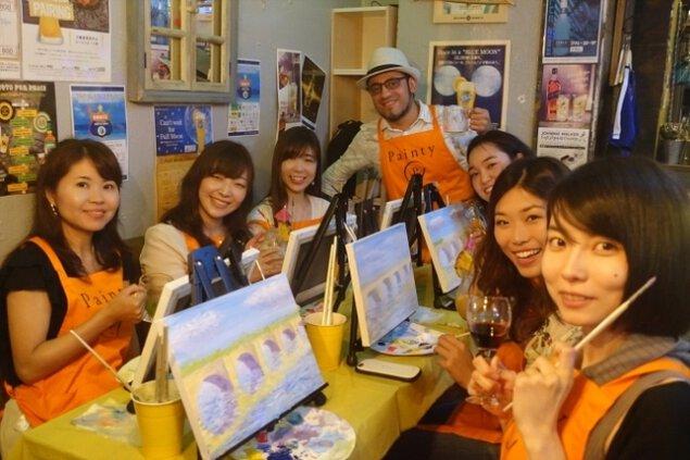 銀座ペイントパーティー「ワイン片手に絵を描こう」(4月)<中止となりました>