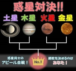 惑星対決!金星vs火星vs木星vs土星 第一試合