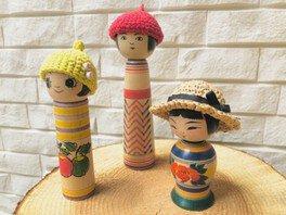 ポケットこけしを夏コーデ micantoringo編み物shop&ワークショップ!