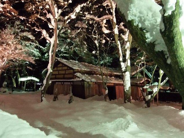 雪の角館武家屋敷ライトアップ