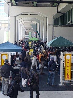 JR弁天町駅前フリマ(4月)