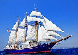 秋田港初入港!帆船みらいへ体験航海
