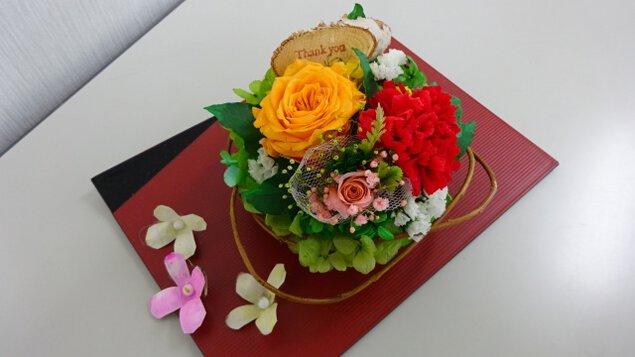 アトリエkeiの染色手作りプリザーブドフラワー教室(4月)