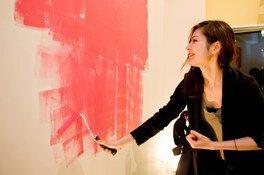 小さなポストカードと大きな壁を塗ろう!(6月)