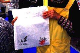 里山体験塾「葉っぱを使ってマイバッグを作ろう!」