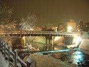 冬の飛騨高山ライトアップ