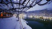 冬枯れと、たまに雪景色