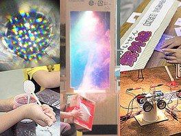 倉敷科学センター わくわく実験室「七色に輝け!光の実験」