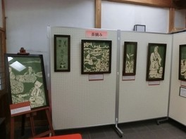 ハサミ切り絵展「茶と人」