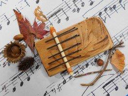 秋の木工体験「手作りカリンバ」