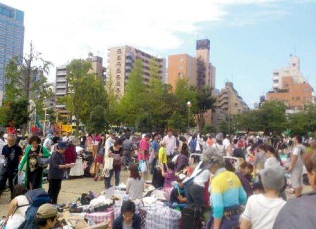 錦糸町「錦糸公園」フリーマーケット(4月)