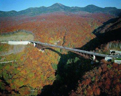 【紅葉・見ごろ】城ヶ倉大橋