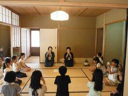 夏休みこども茶道教室
