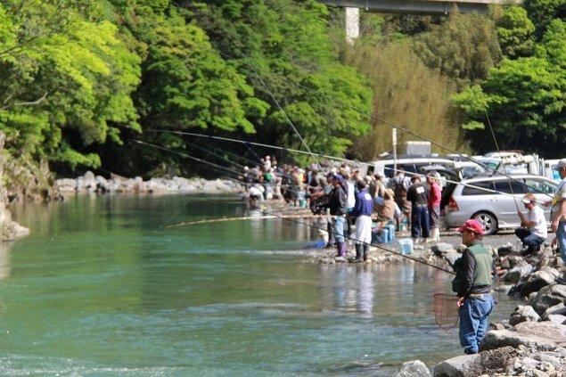 上椎葉釣り大会