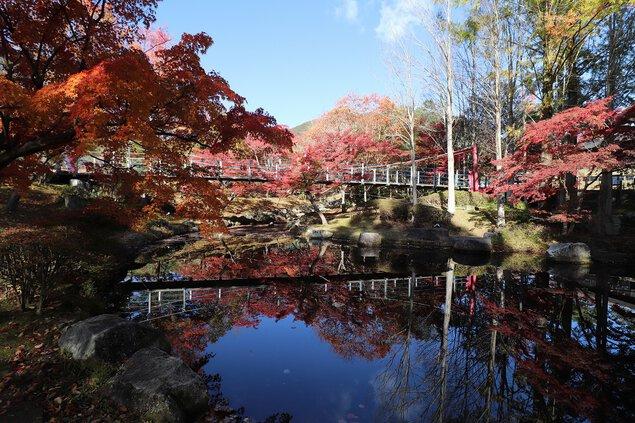 多可町余暇村公園の紅葉