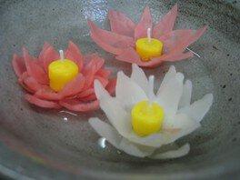 ハスの花キャンドル