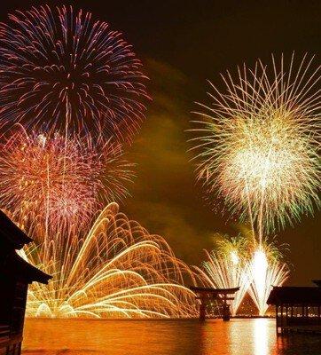 【2018年中止】平清盛公生誕900年記念 第46回宮島水中花火大会