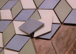 ワークショップ 石こう型でモザイクタイル
