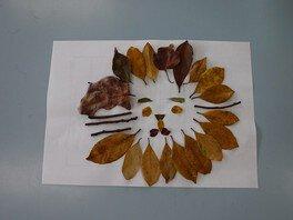環境学習プログラム「葉っぱでアート」