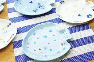 夏限定 陶芸絵付けメニュー「お魚プレート」作り