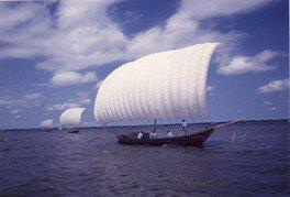 観光帆引き船操業2018