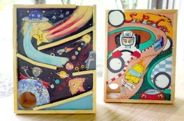 夏の自由工作「10円ゲーム風カラクリ貯金箱」作り