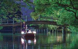 夜の川下り「灯り舟」