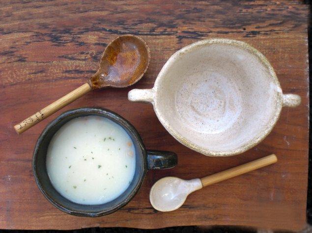 陶芸シーズナルテーマ「スープのための器づくり」 限定釉薬(さくら・白萩・銅青磁)