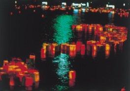 松江大橋南詰(法要)、大橋川、宍道湖