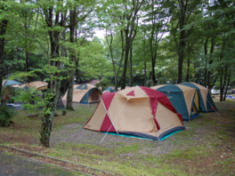 休暇村茶臼山高原チャウシカの森キャンプ場