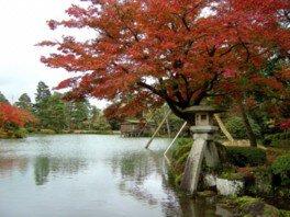 特別名勝兼六園の紅葉(石川県・金沢市)