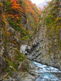 清津峡の紅葉