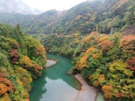 揖斐峡の紅葉