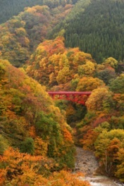 松川渓谷の紅葉