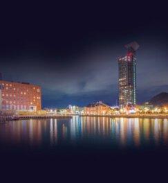 門司港レトロ地区一帯がレトロでロマンチックな雰囲気を演出