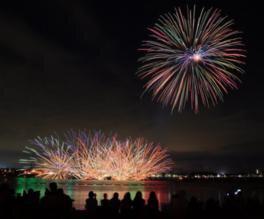 知多市制施行50周年記念プレ事業 第6回 新舞子ビーチフェスティバル花火大会