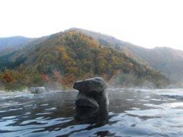 馬曲温泉 望郷の湯の紅葉
