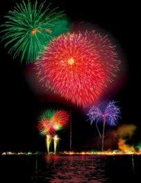 山中湖「報湖祭」花火大会