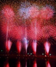 【2020年中止】阿賀野川ござれや花火2019 「愛」