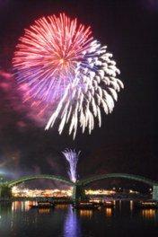 【2020年開催なし】第52回錦川水の祭典花火大会