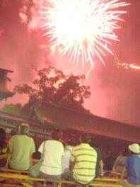 約1500発の花火が夏の夜空を彩る
