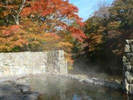 薬研渓流の紅葉