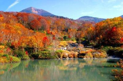 酸ヶ湯温泉・地獄沼の紅葉