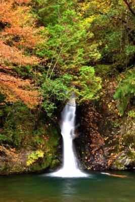 横谷峡(四つの滝)の紅葉