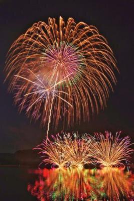 2017飯綱町霊仙寺湖(レイゼンジコ)花火大会 「天狗の火舞」
