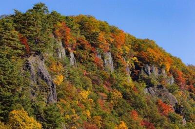 屏風岩の紅葉