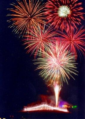 第39回ラベンダーの里 かみふらの花と炎の四季彩まつり 花火大会