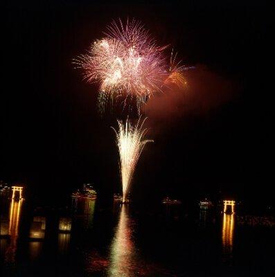 1262芦ノ湖夏まつりウィーク 鳥居焼まつり花火大会