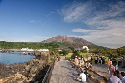 桜島溶岩なぎさ公園