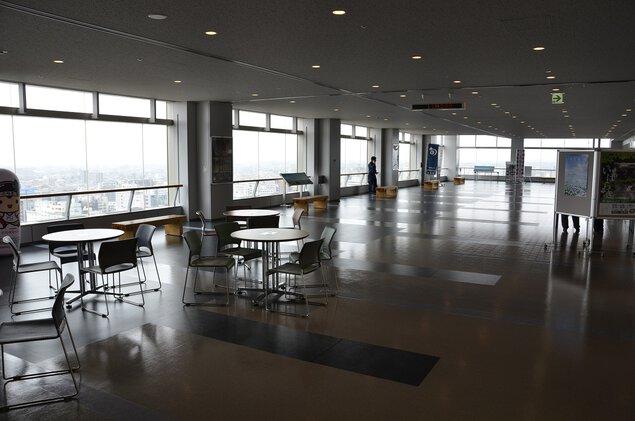 栃木県庁 15階展望ロビー